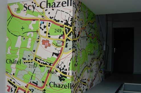 Retraitement et polychromie n°7 rue de la Cheneau à Scy-Chazelles