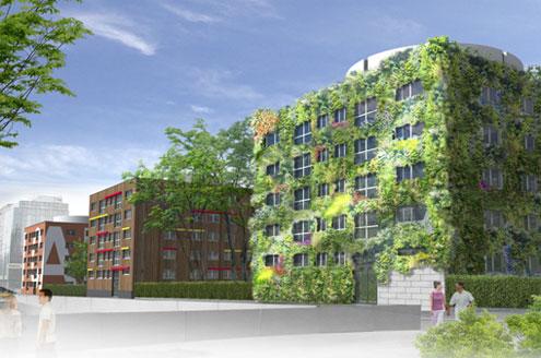Retraitement architectural et polychromie de trois immeubles du quartier Gare à Reims (Projet)