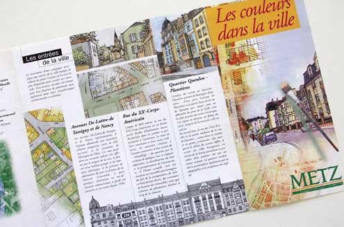 Histoire du développement urbain et polychromie de 3 quartiers à Metz