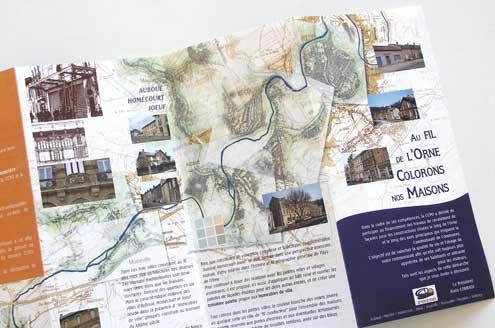 Histoire du développement urbain et polychromie de 8 communes