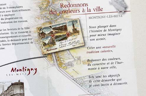 Histoire urbaine et étude de coloration des rues de Pont-à-Mousson et Franiatte
